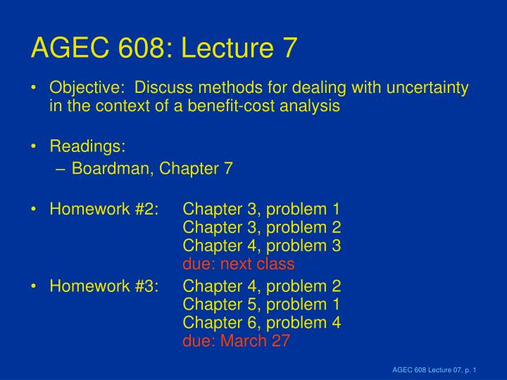 agec 608 lecture 7 n.