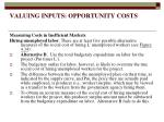 valuing inputs opportunity costs15