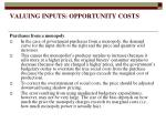valuing inputs opportunity costs19