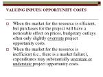 valuing inputs opportunity costs4