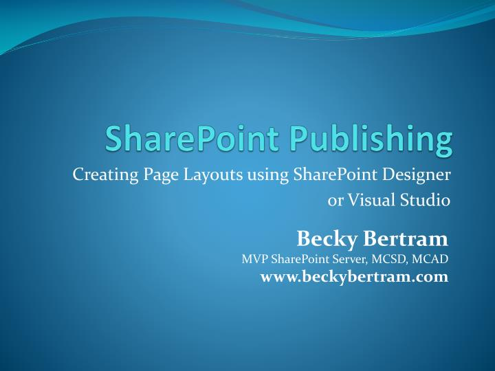 sharepoint publishing n.