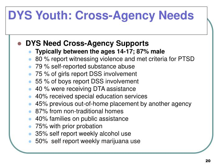 DYS Youth: Cross-Agency Needs