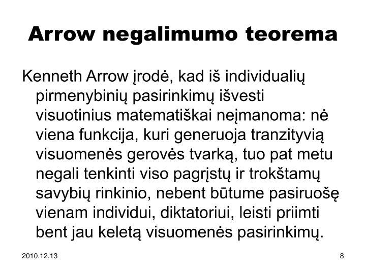 Arrow negalimumo teorema