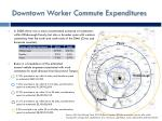 downtown worker commute expenditures