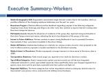 executive summary workers