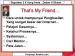 that s my friend