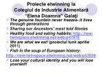 proiecte etwinning la colegiul de industrie alimentar elena doamna gala i