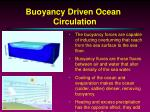 buoyancy driven ocean circulation