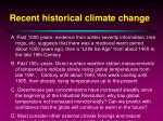 recent historical climate change