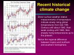 recent historical climate change4