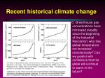 recent historical climate change5