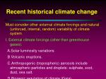 recent historical climate change7