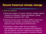 recent historical climate change8