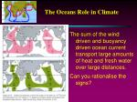 the oceans role in climate