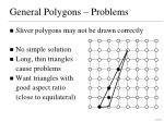 general polygons problems