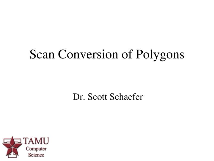 scan conversion of polygons n.