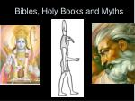 bibles holy books and myths