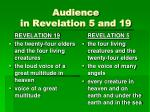 audience in revelation 5 and 19