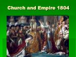 church and empire 1804