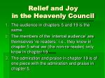 relief and joy in the heavenly council