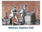 believers baptism 1525