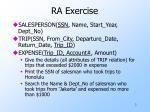 ra exercise