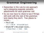 grammar engineering