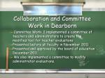 collaboration and committee work in dearborn