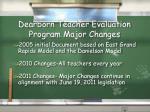 dearborn teacher evaluation program major changes