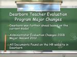 dearborn teacher evaluation program major changes1