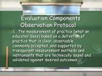 evaluation components observation protocol