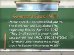governor s council will