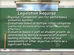 legislation requires