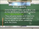 mcee update