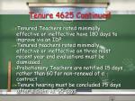 tenure 4625 continued