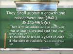 they shall submit a growth and assessment tool mcl 380 1249 5 a