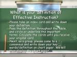 what is your definition of effective instruction1