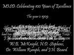 misd celebrating 100 years of excellence