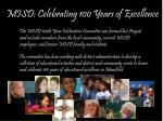 misd celebrating 100 years of excellence1