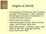 origins of oacis
