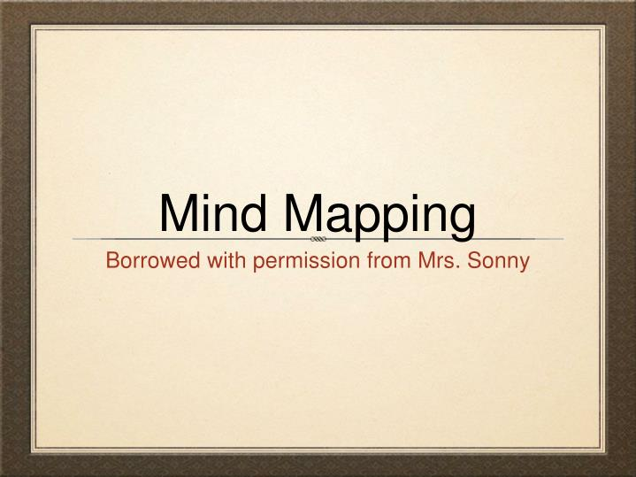 mind mapping n.