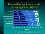 detailed positive satisfaction in ascending order 37 45