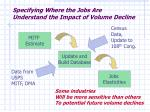 specifying where the jobs are understand the impact of volume decline