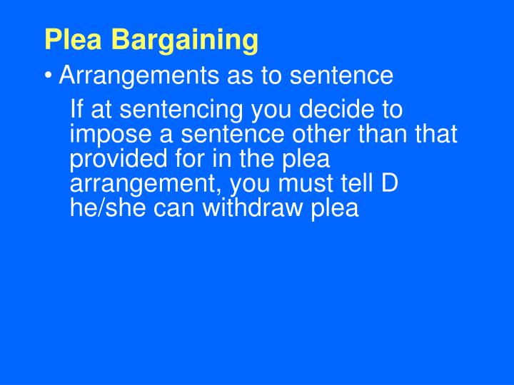 Plea Bargaining