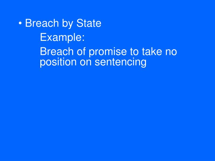 Breach by State