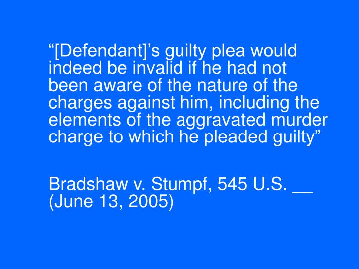 """[Defendant]'s guilty plea would indeed be invalid if he had not been aware of the nature of the charges against him, including the elements of the aggravated murder charge to which he pleaded guilty"""