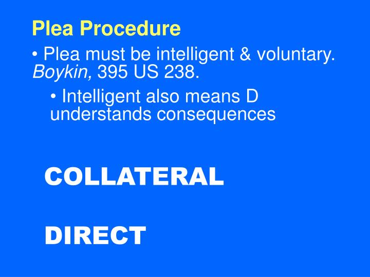Plea Procedure