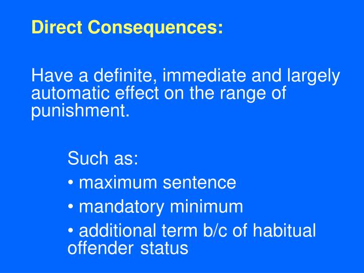 Direct Consequences: