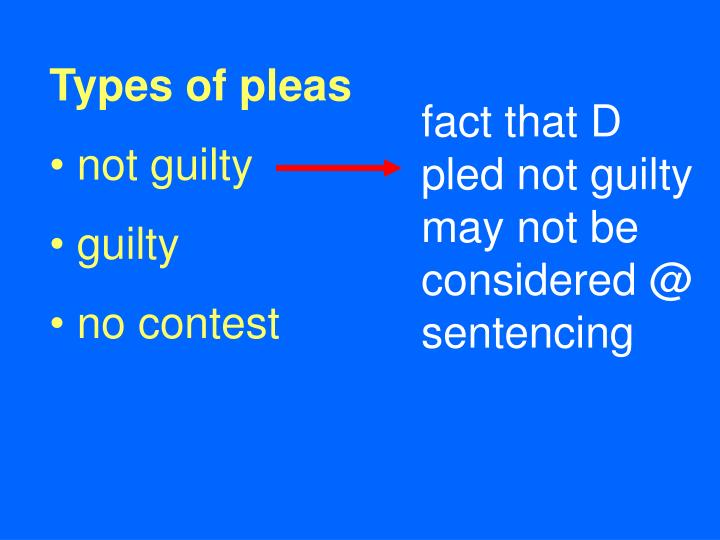 Types of pleas
