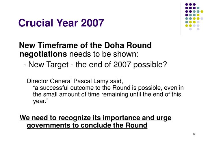 PPT - WTO Doha Round: Crucial Year - 2007 PowerPoint